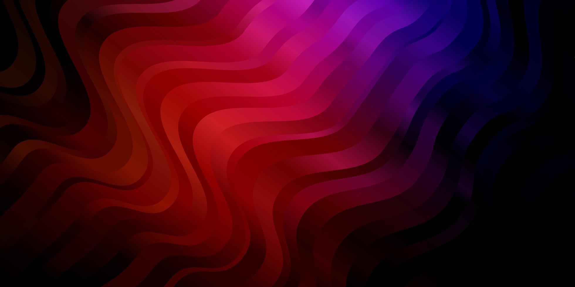 trama vettoriale rosa scuro, rosso con arco circolare.