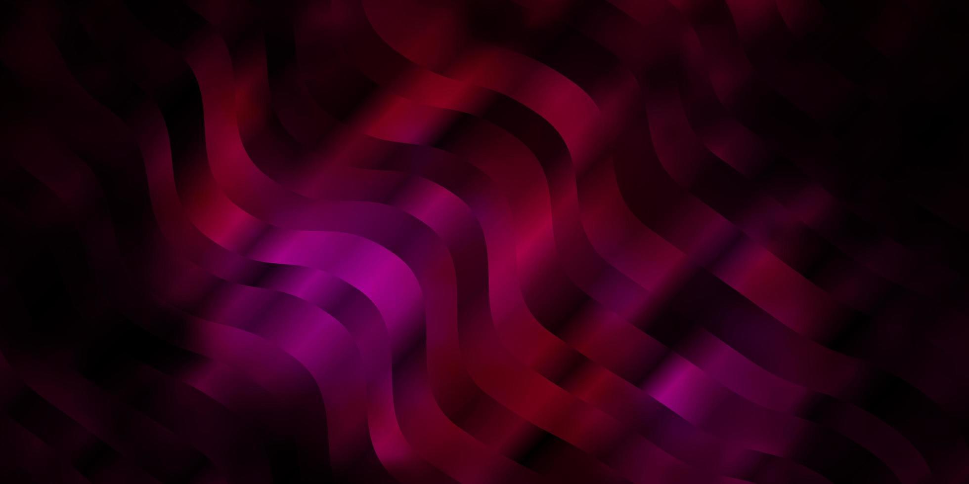 sfondo vettoriale rosa scuro con linee.