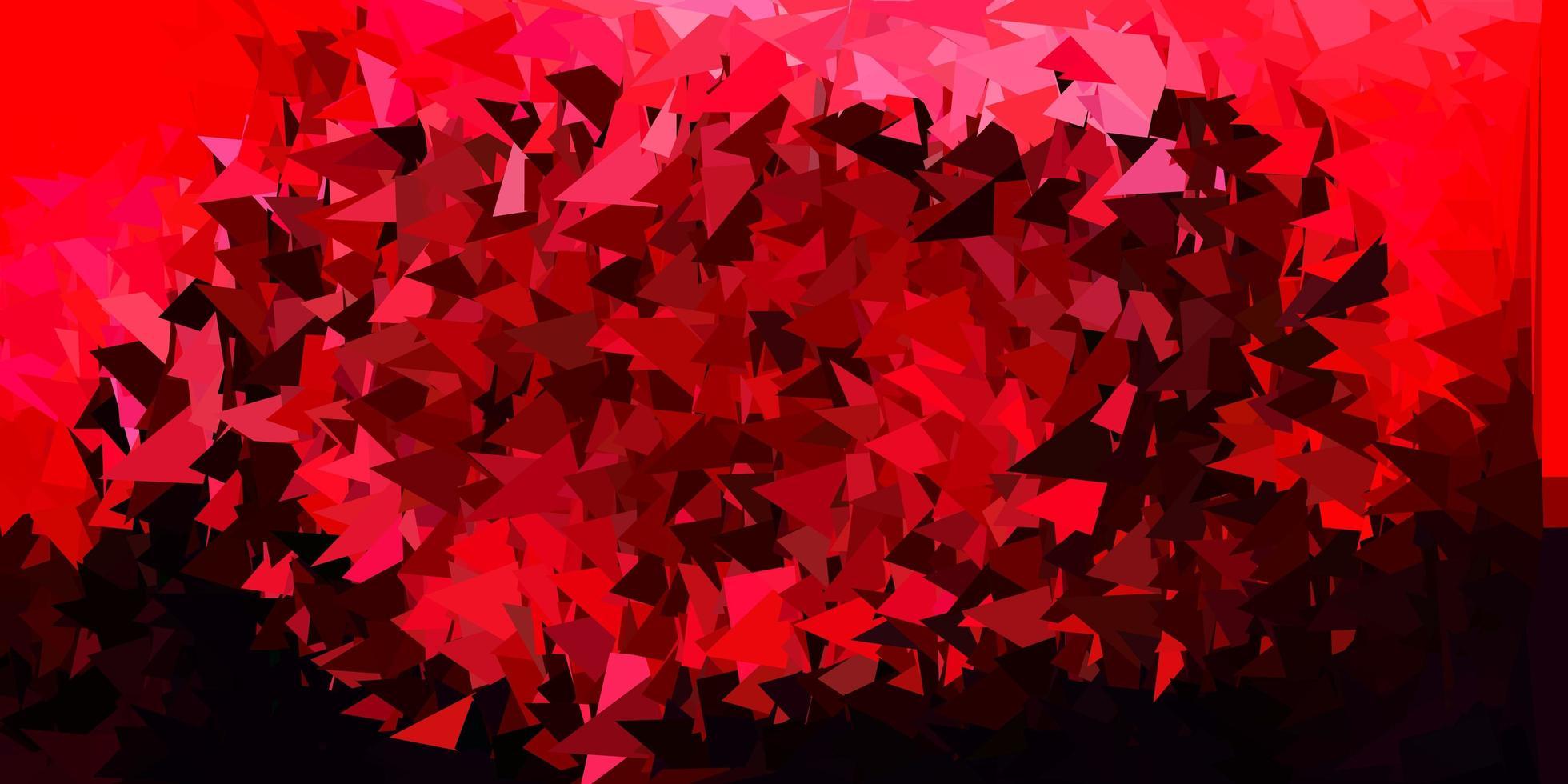 layout di poligono sfumato vettoriale rosa scuro, rosso.