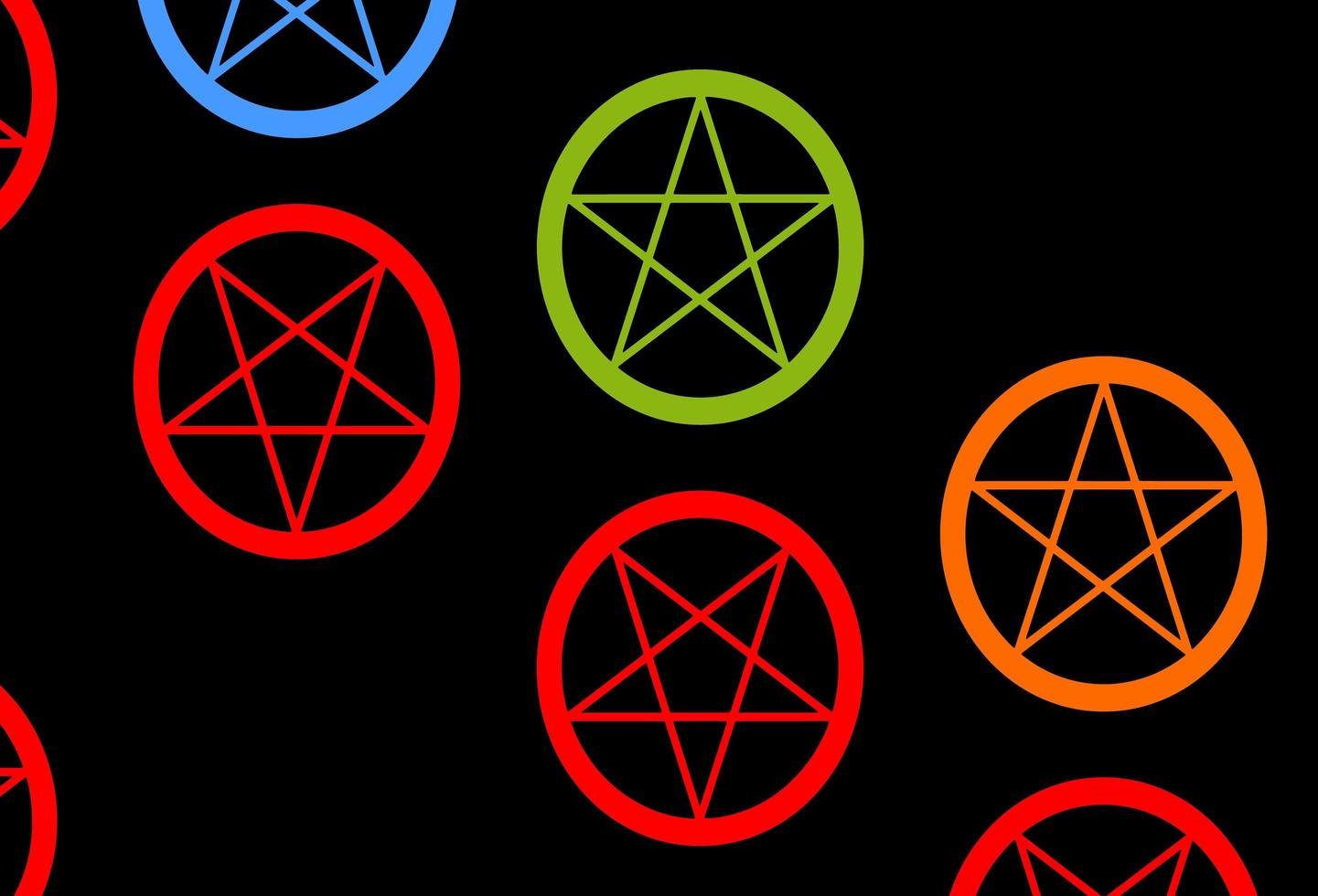 sfondo vettoriale multicolore scuro con simboli occulti.