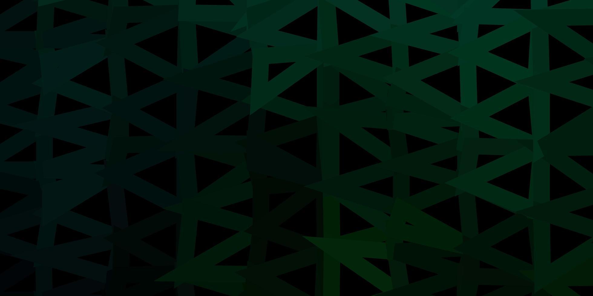 carta da parati poligonale geometrica di vettore verde scuro.