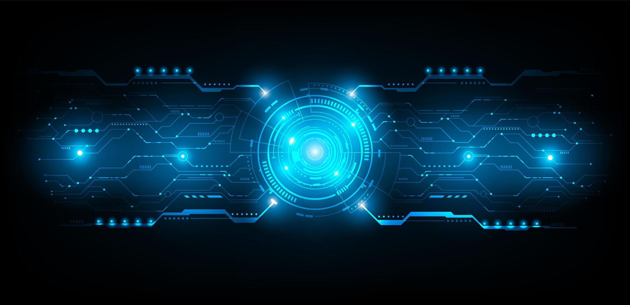 circuito futuristico astratto linea di collegamento vettoriale e illustrazione
