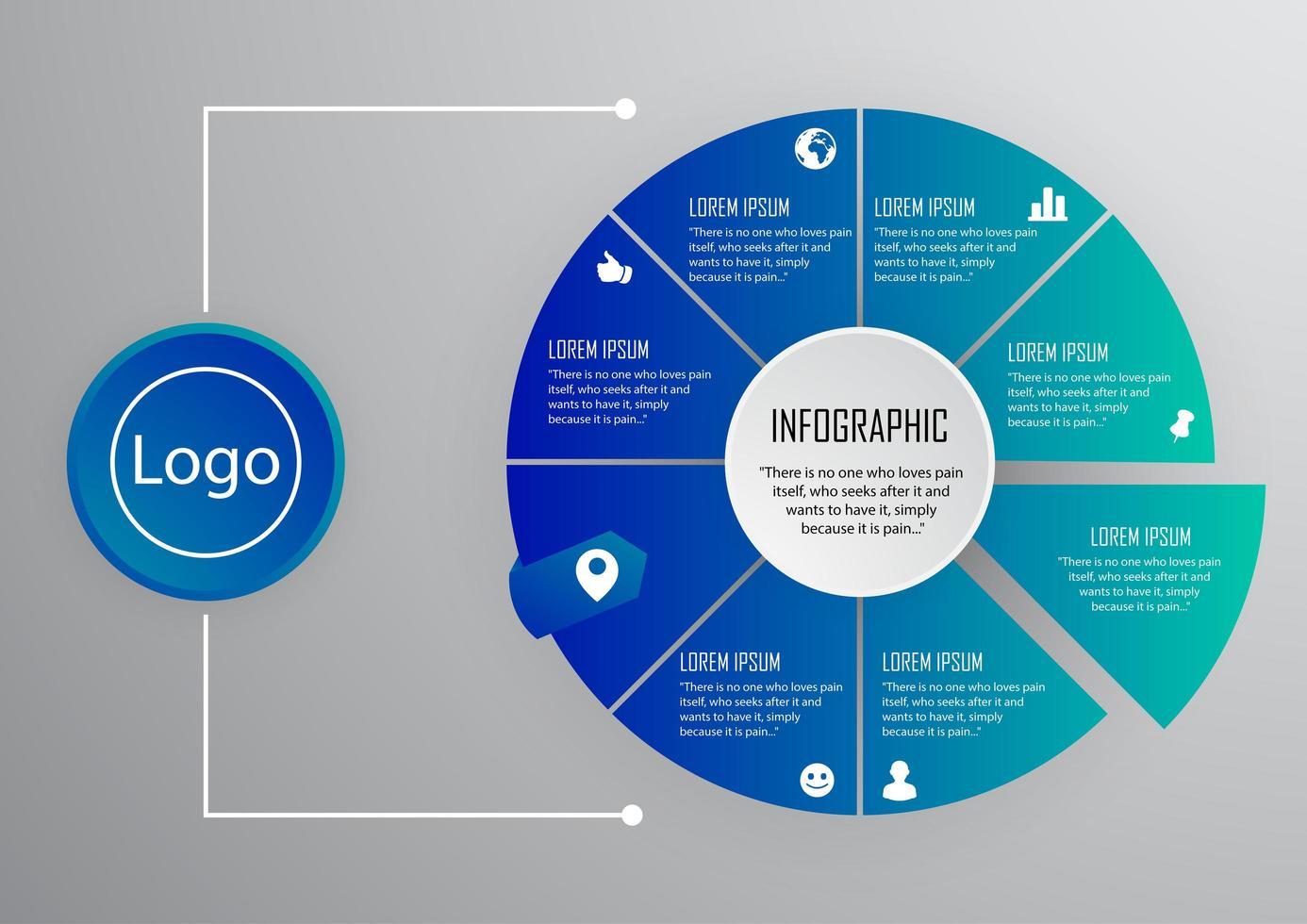 infografica per il design moderno di affari vettore
