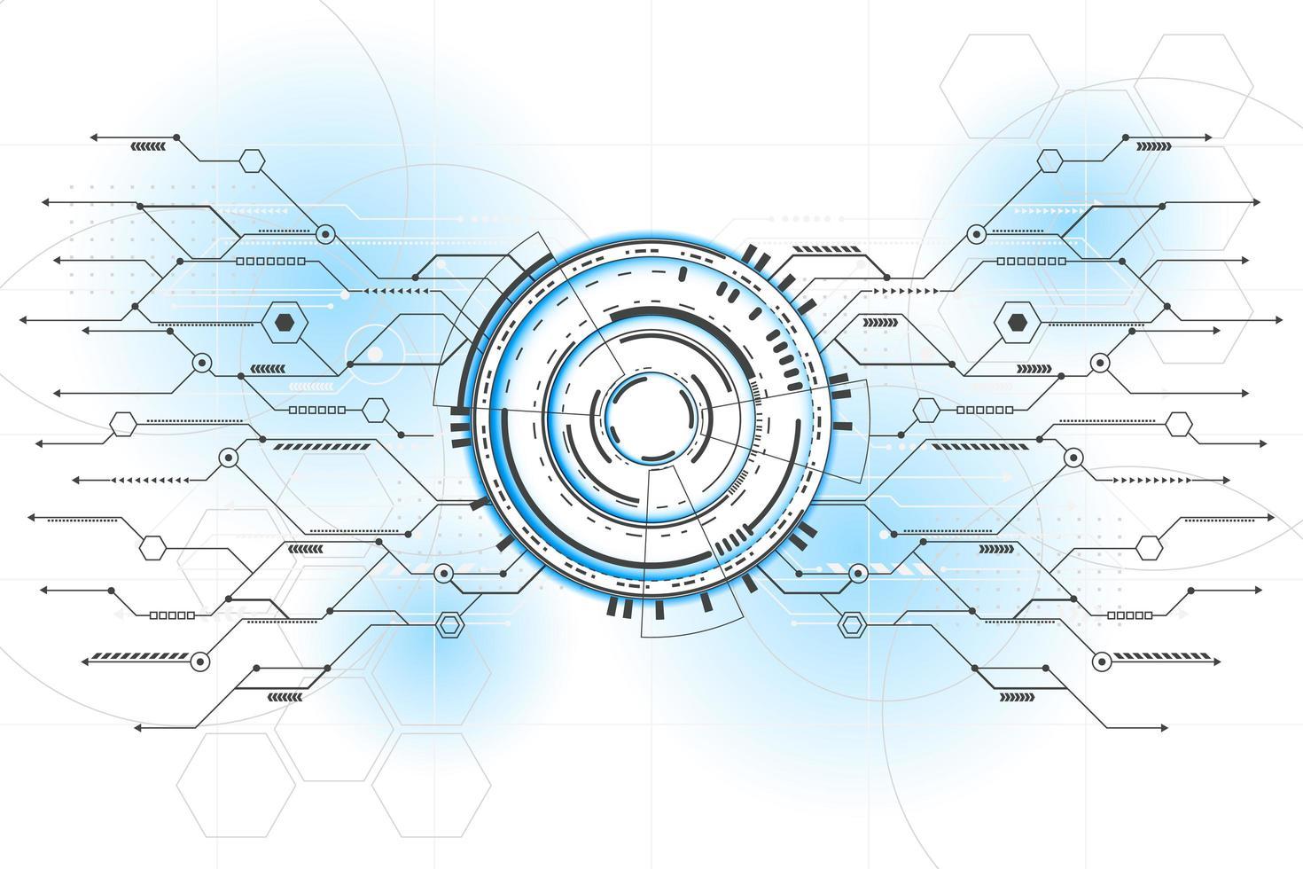 astratto futuristico collegamento linea circuito vettoriale e illustrazione