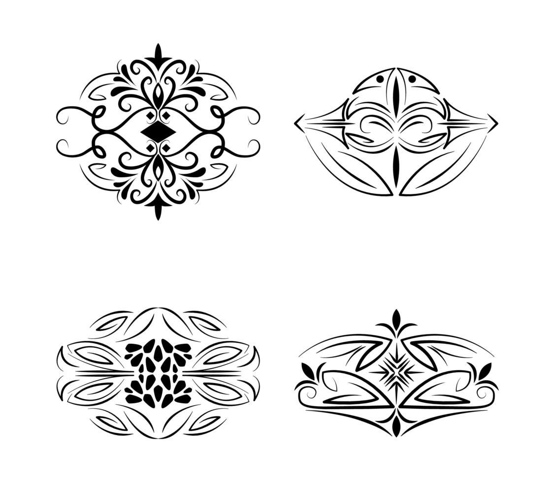 Divisori Decorazione Vintage Design Elegante Elementi Icone 1859948 Scarica Immagini Vettoriali Gratis Grafica Vettoriale E Disegno Modelli