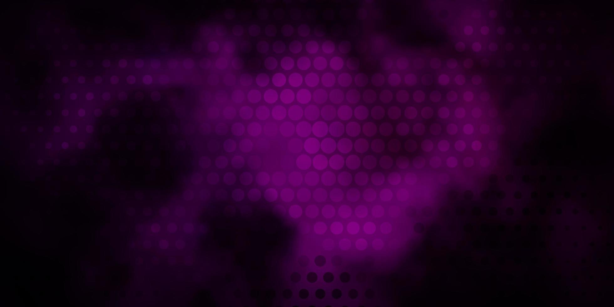 sfondo vettoriale viola scuro con punti.