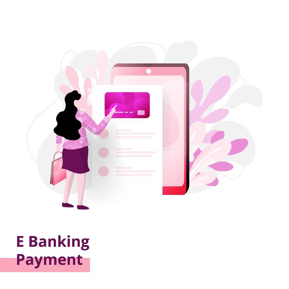 pagina di pagamento bancario di destinazione vettore