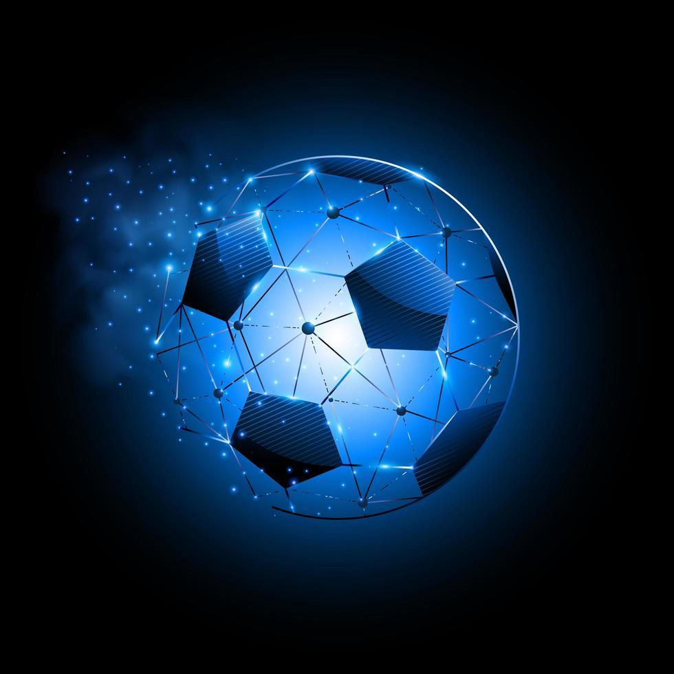 sfondo di particelle di pallone da calcio astratto vettore