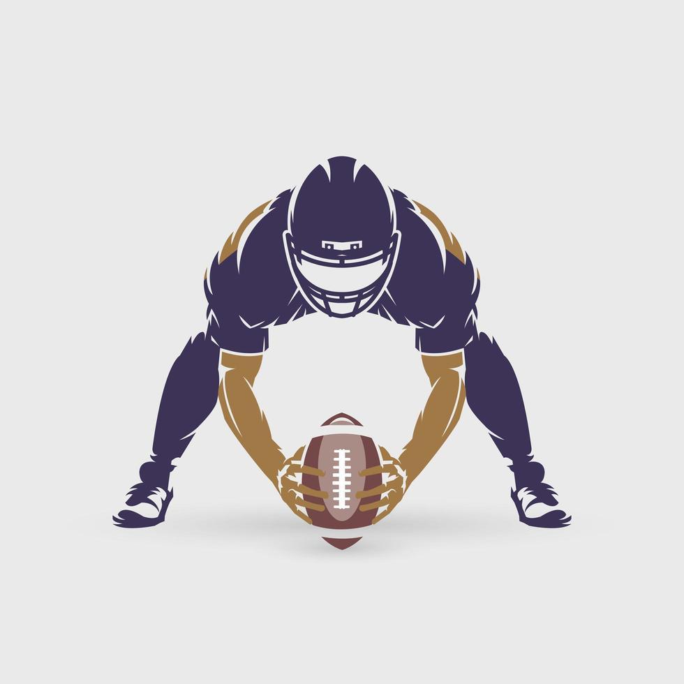 football americano si prepara a passare la palla vettore