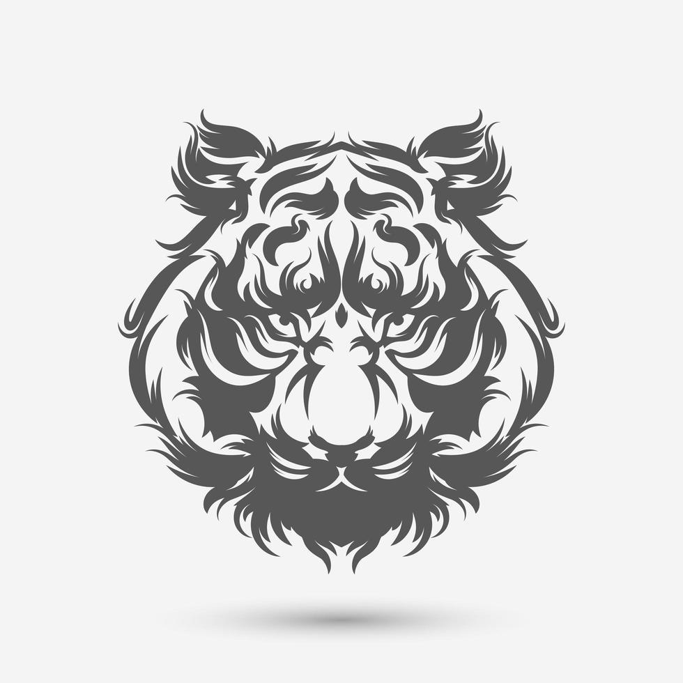 pennello artistico testa di tigre vettore