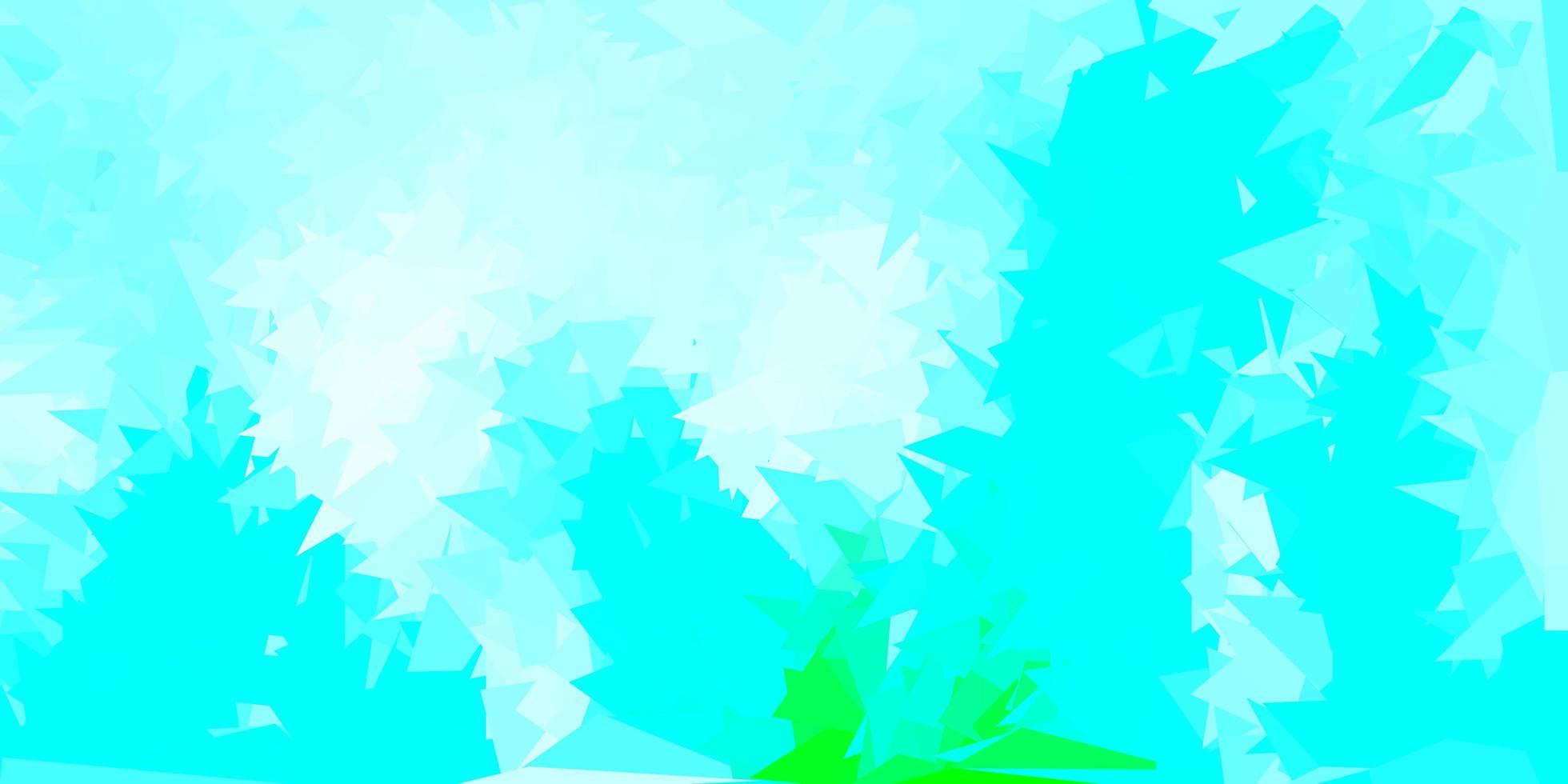 sfondo triangolo astratto blu chiaro, verde vettoriale. vettore