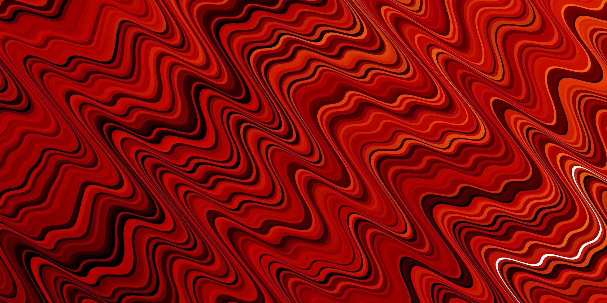 trama vettoriale rosso scuro, giallo con curve.