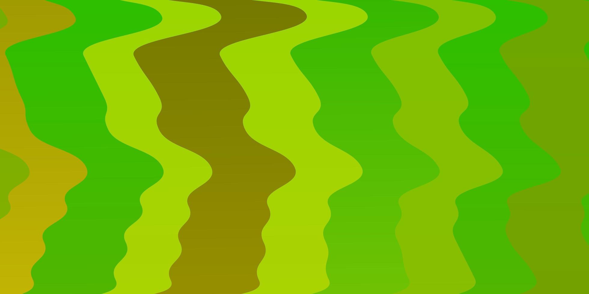 sfondo vettoriale verde chiaro, giallo con curve.