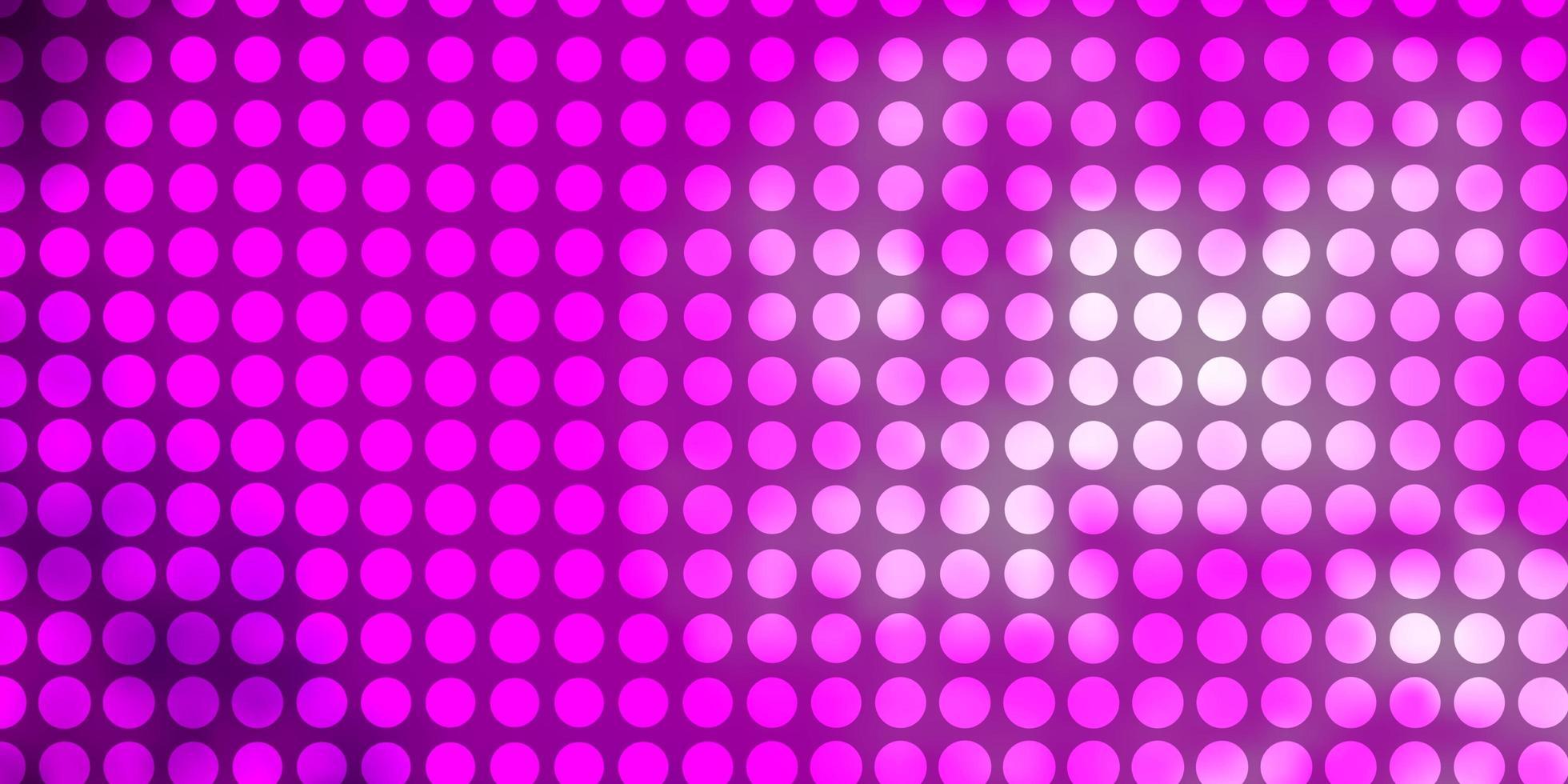 layout vettoriale rosa chiaro con cerchi.