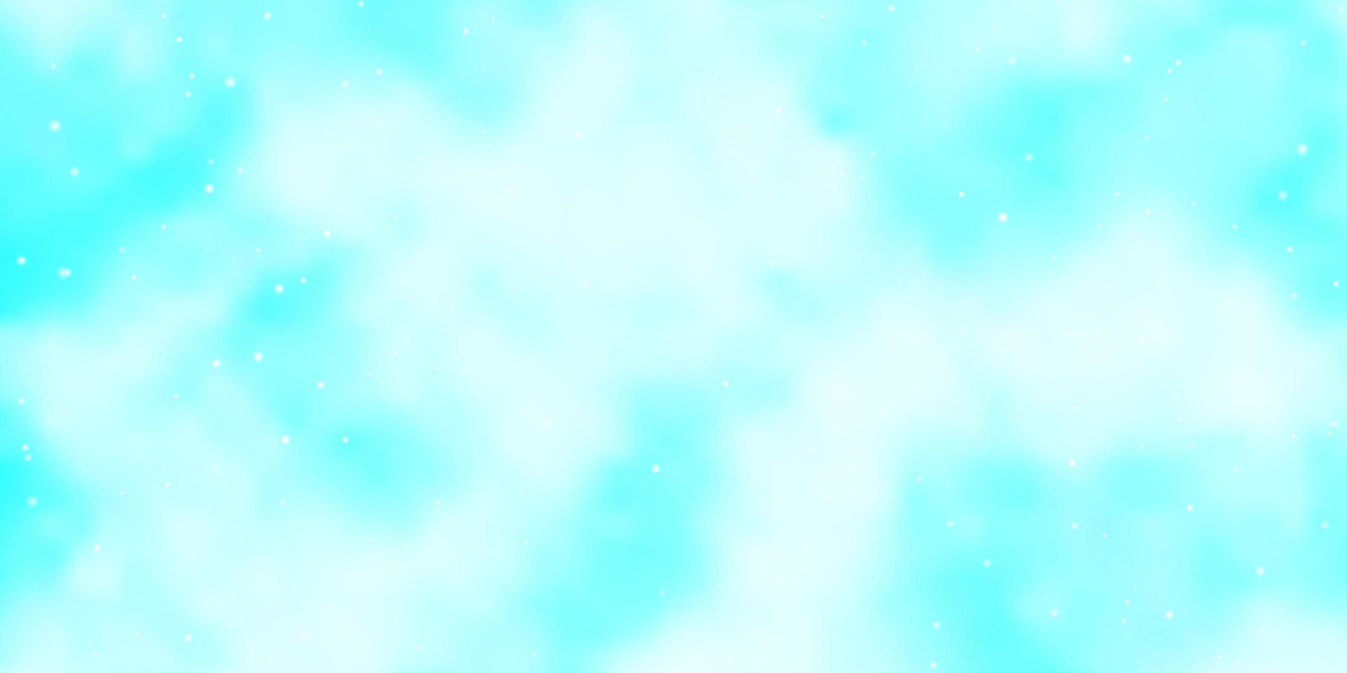 sfondo vettoriale azzurro con stelle colorate.
