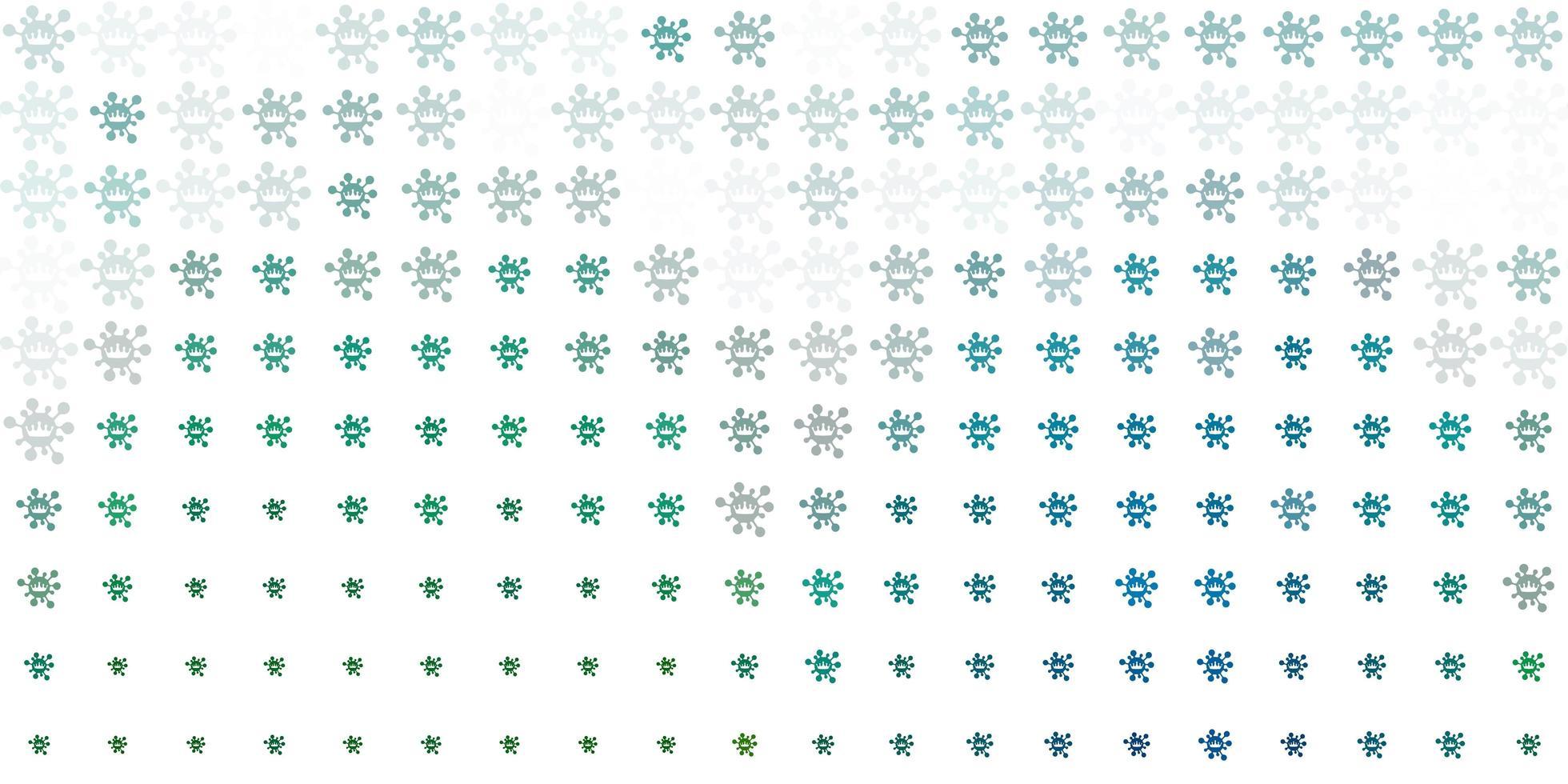 sfondo vettoriale verde chiaro con simboli di virus