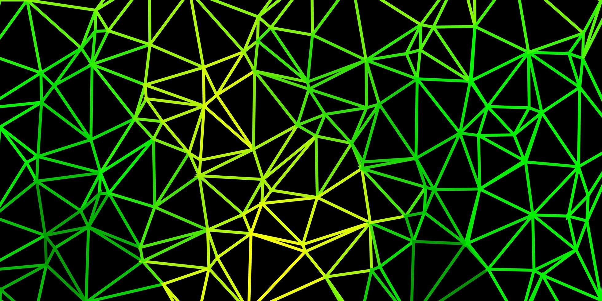 trama di triangolo astratto vettoriale verde chiaro, giallo.