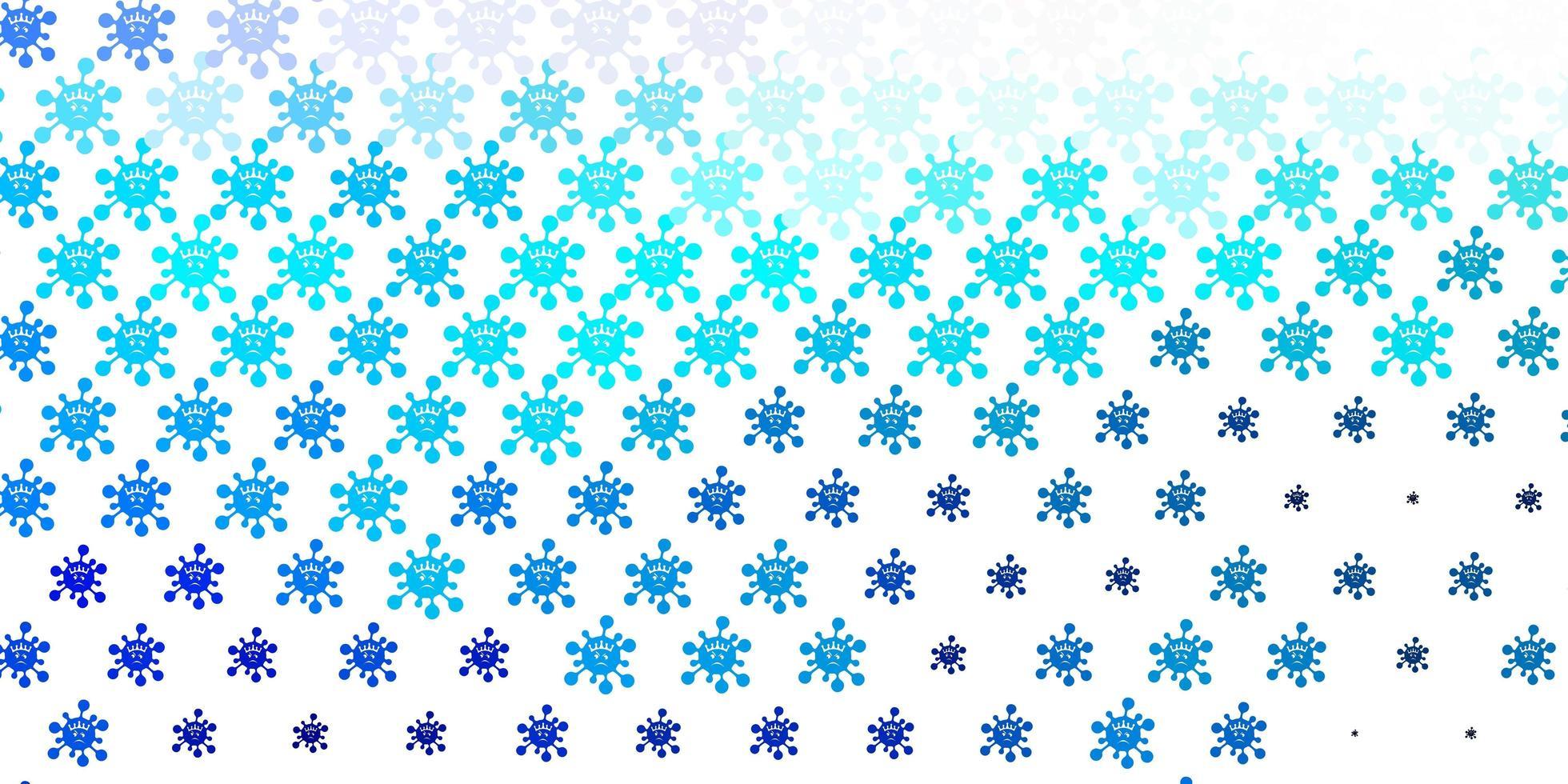 modello vettoriale azzurro con segni di influenza