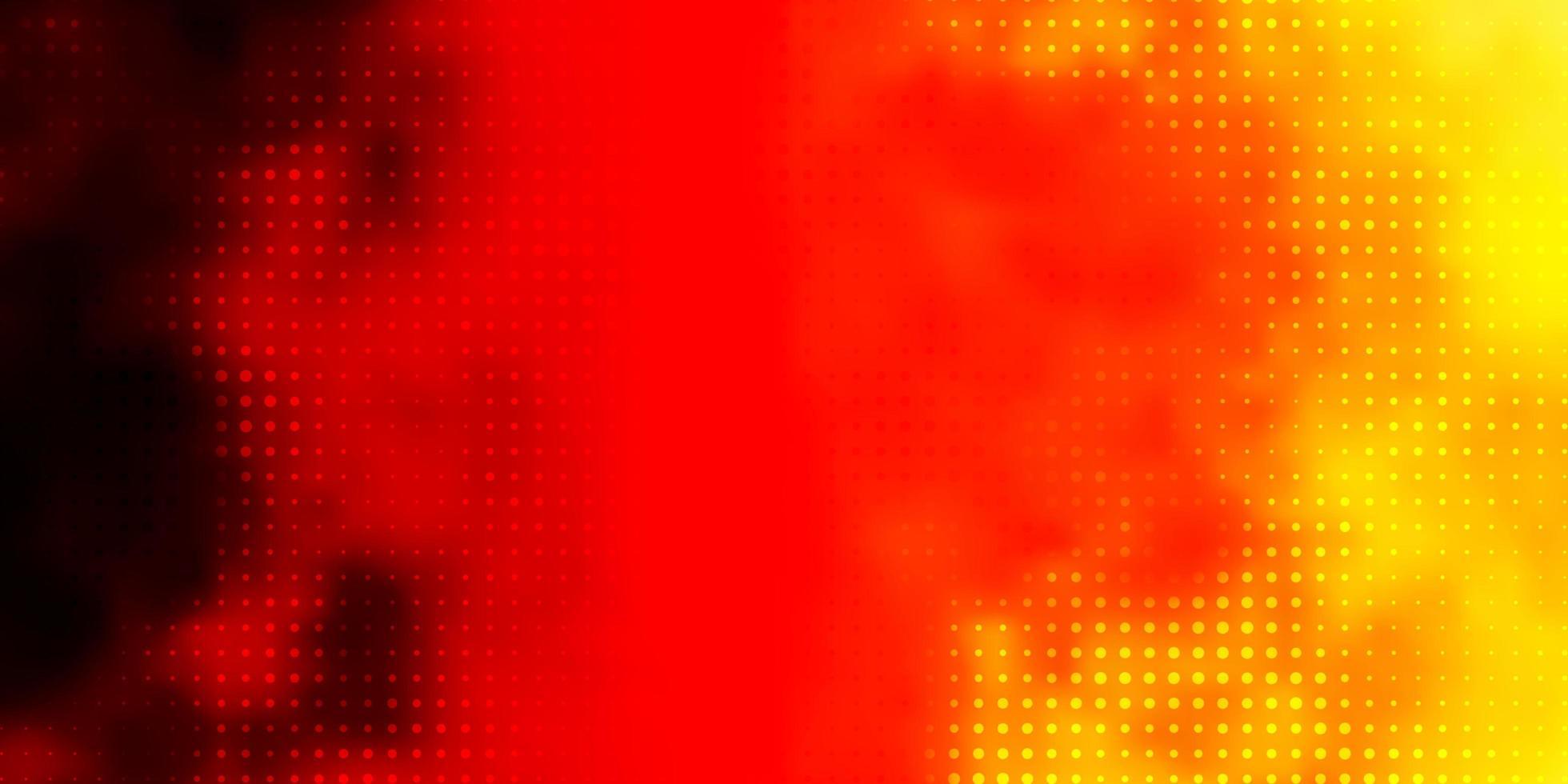 sfondo vettoriale rosso chiaro, giallo con cerchi.