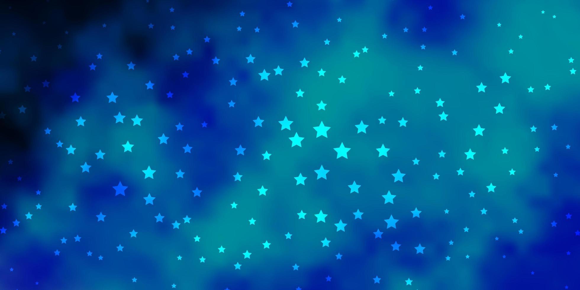 modello vettoriale blu scuro con stelle astratte.