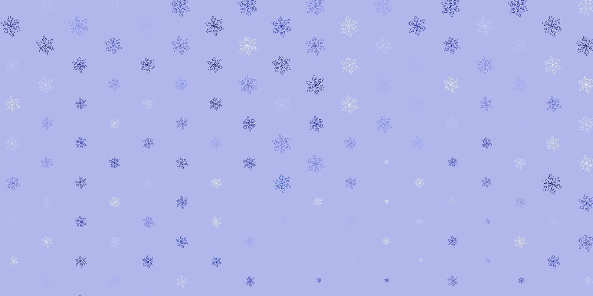 sfondo naturale vettoriale azzurro con fiori.