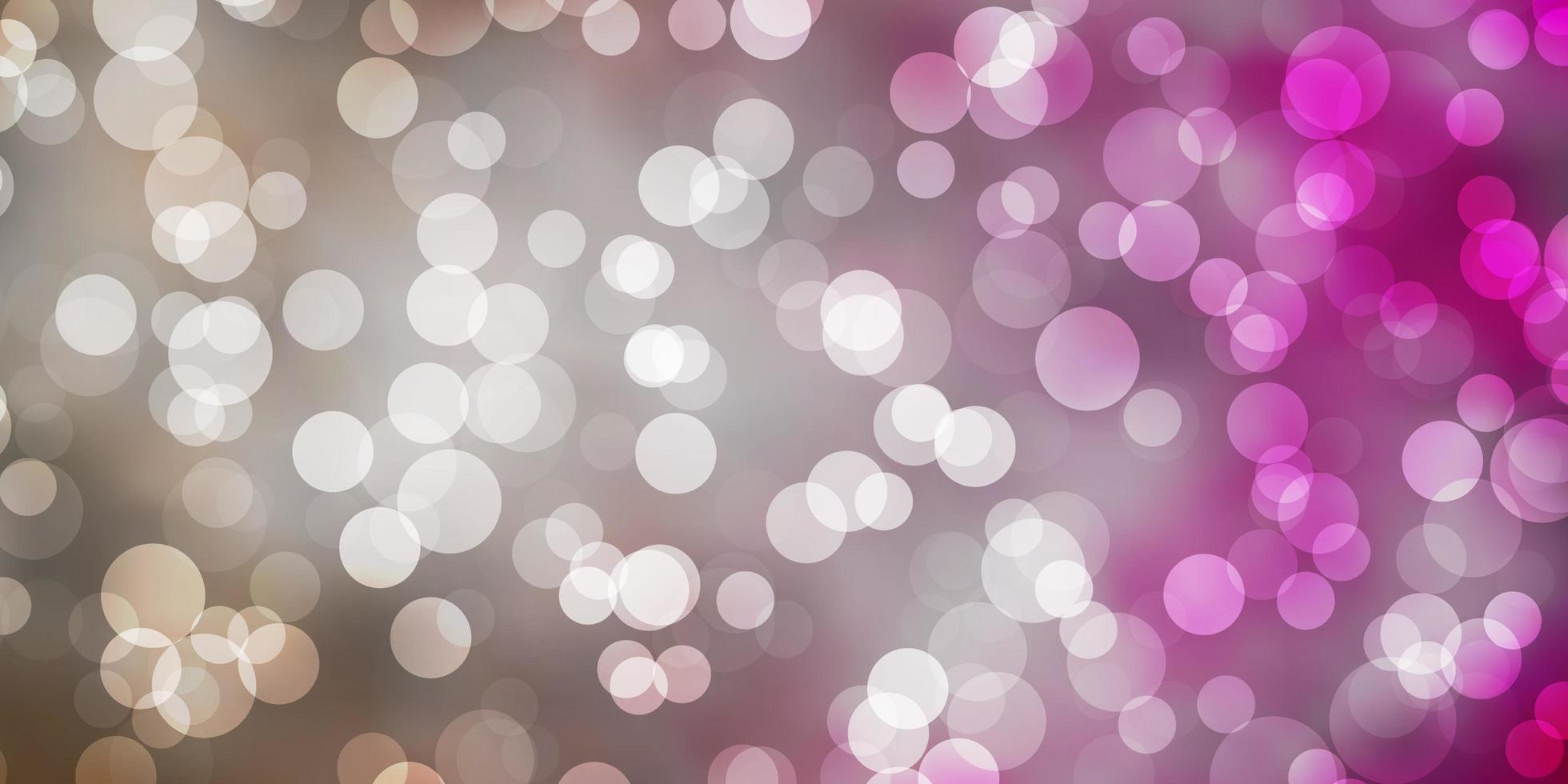sfondo vettoriale rosa chiaro con punti.