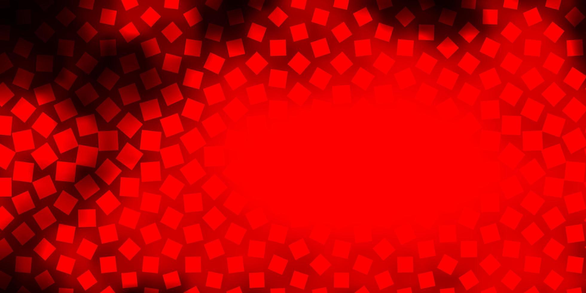 layout vettoriale rosso scuro con linee, rettangoli.