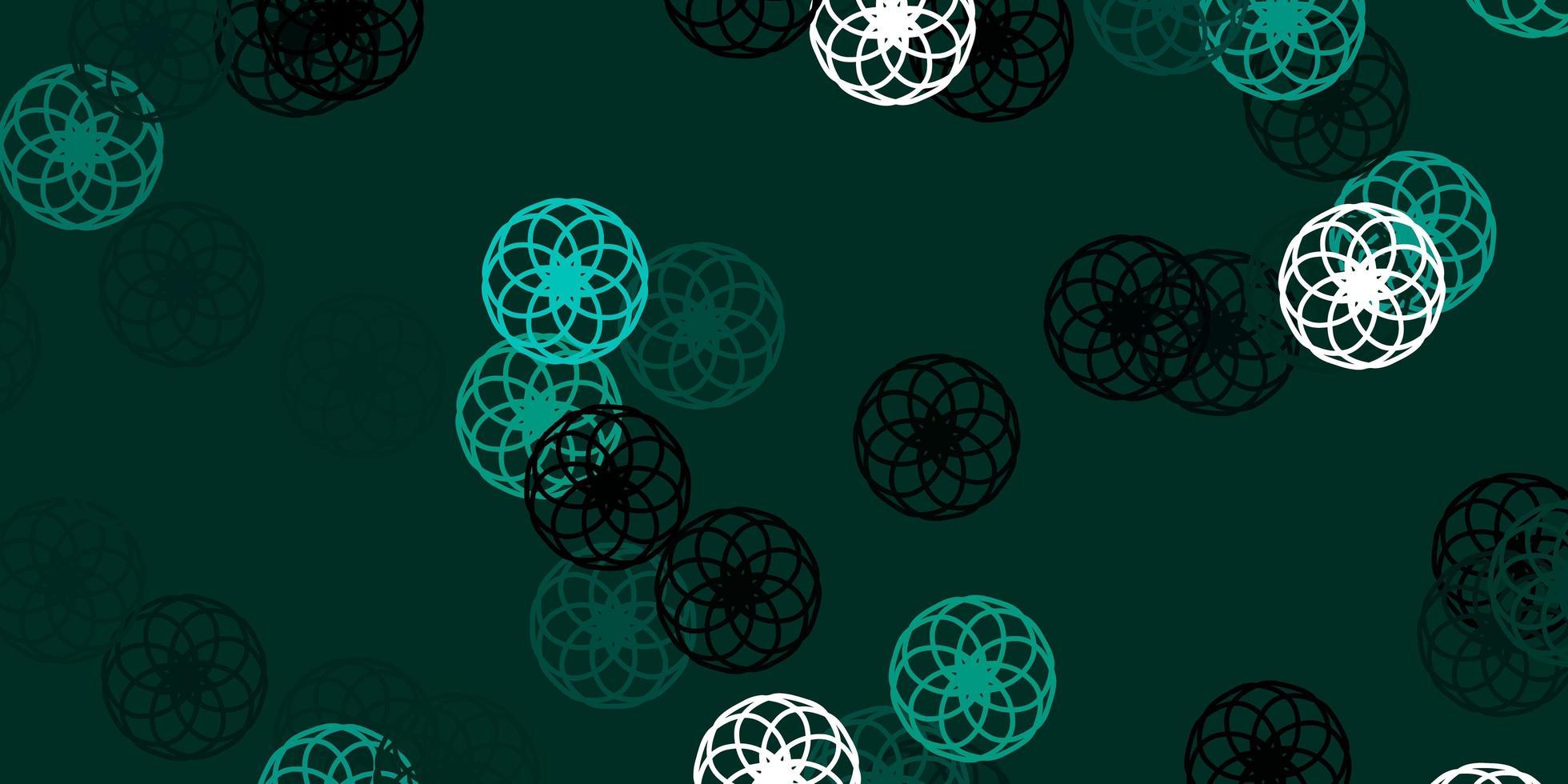 modello vettoriale verde chiaro con sfere