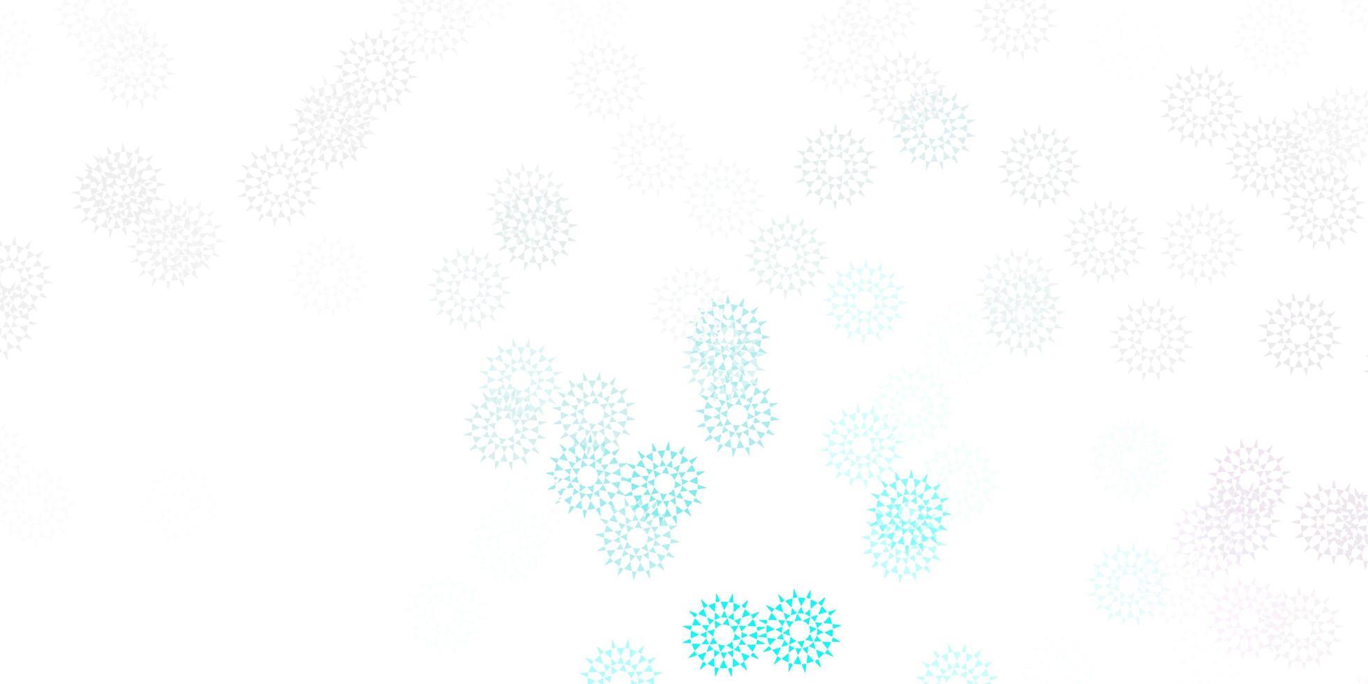 sfondo doodle vettoriale rosa chiaro, blu con fiori.
