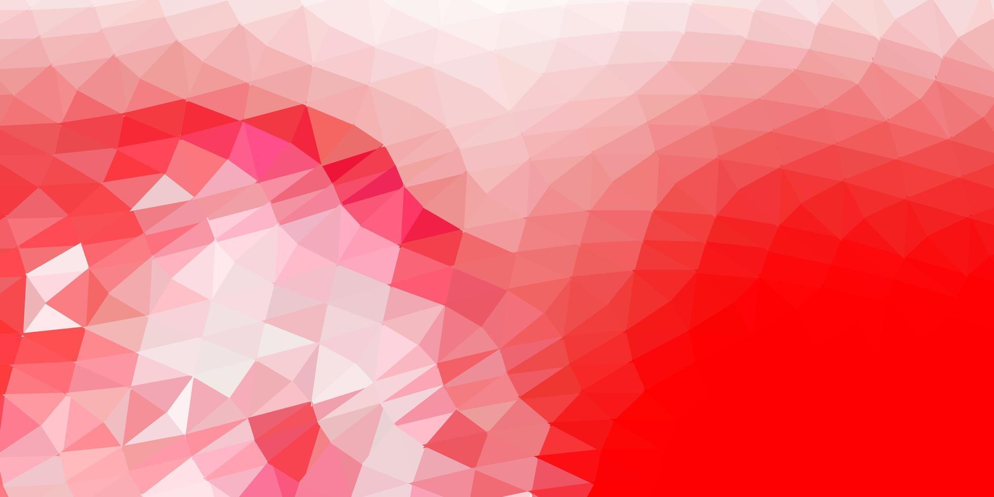 struttura poligonale gradiente vettoriale rosso chiaro.