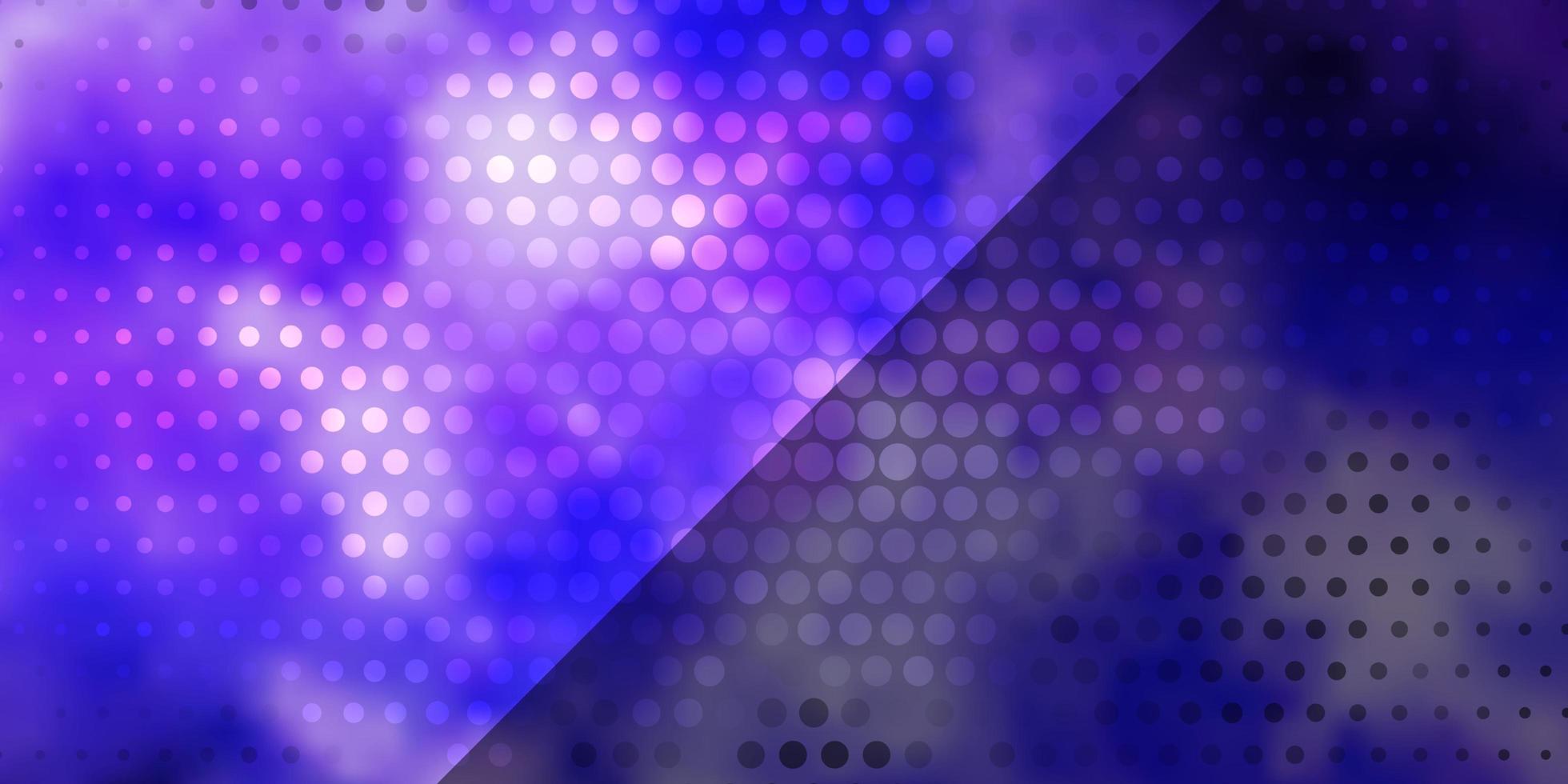 layout vettoriale viola chiaro con cerchi.