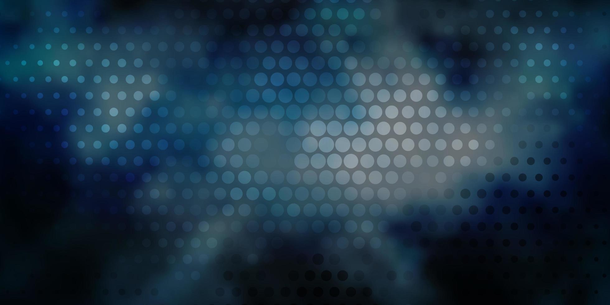 layout vettoriale blu scuro con forme circolari