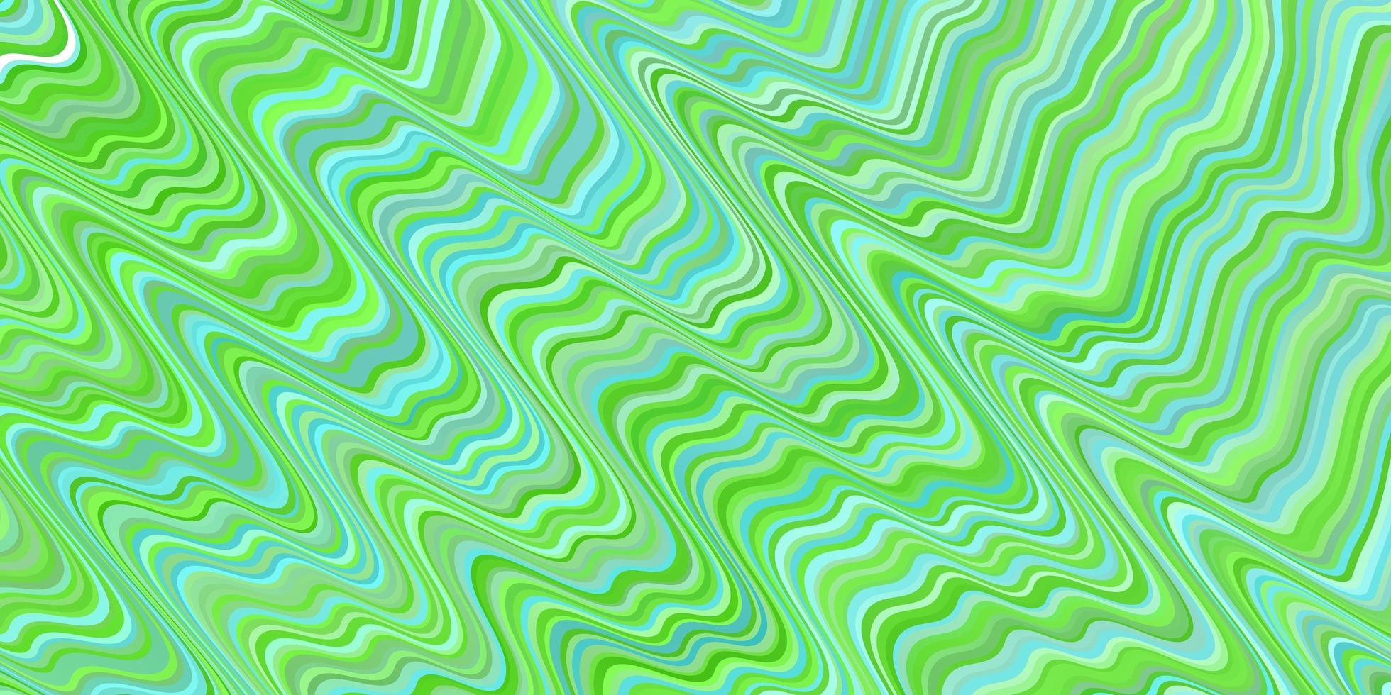 modello vettoriale verde chiaro con linee curve.