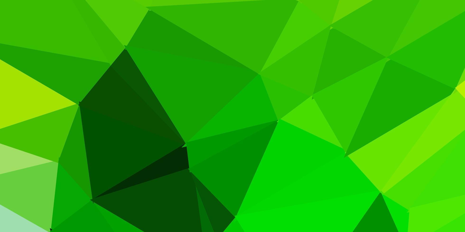 layout poligono gradiente vettoriale verde chiaro, giallo.