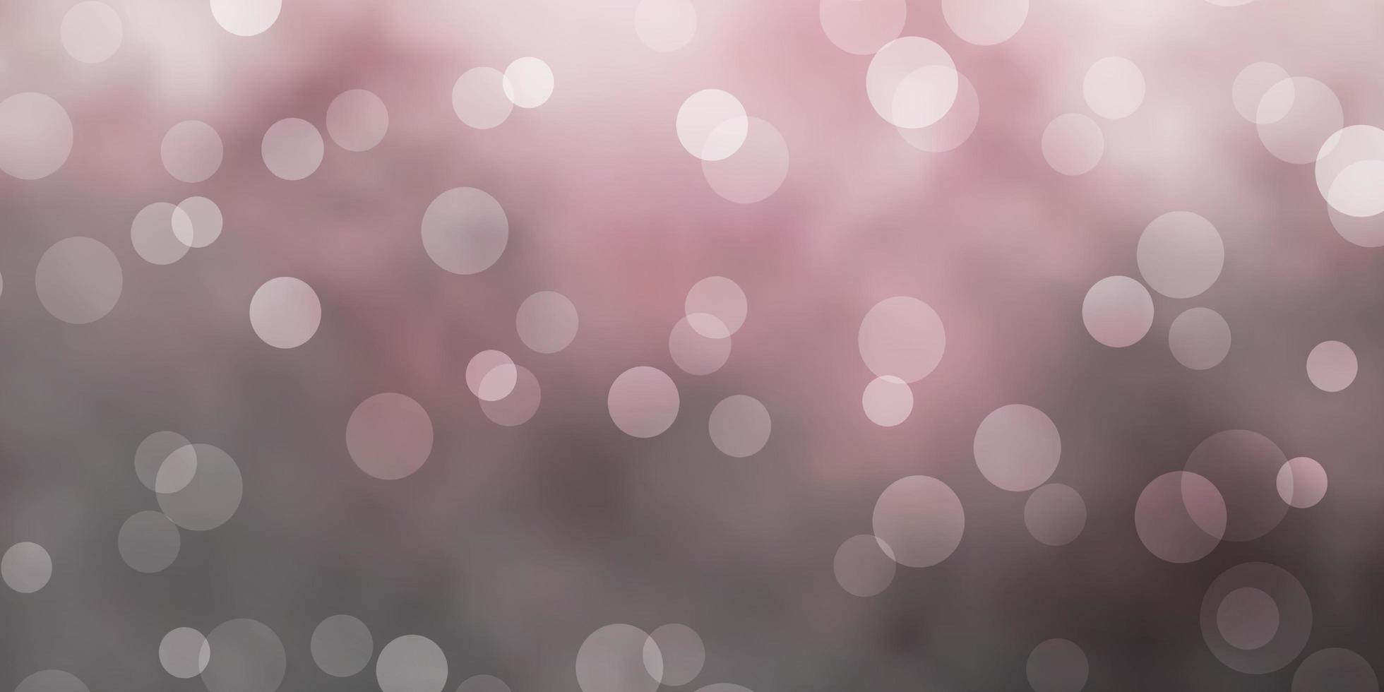 sfondo vettoriale grigio chiaro con bolle.
