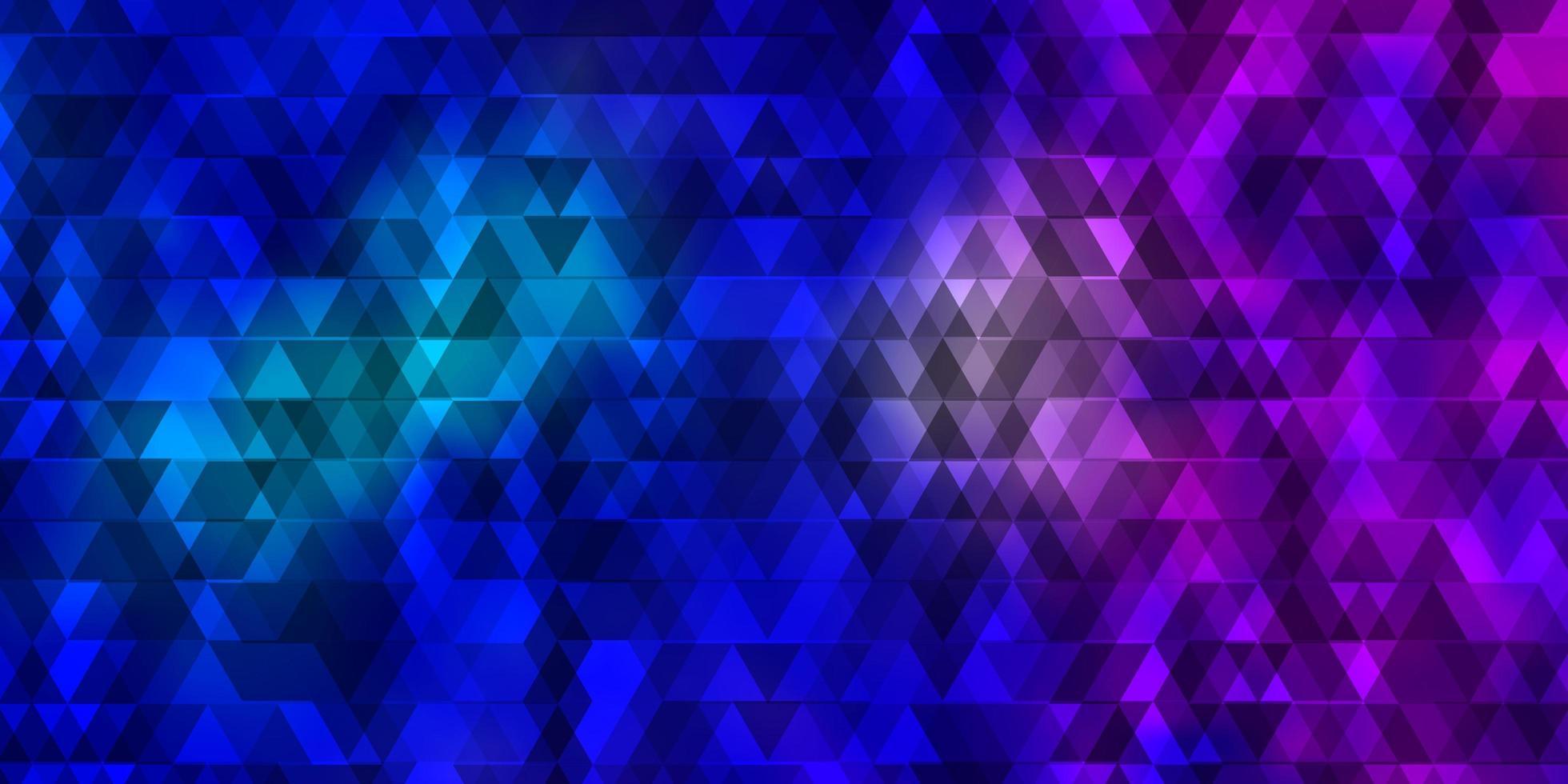 modello vettoriale rosa chiaro, blu con linee, triangoli.