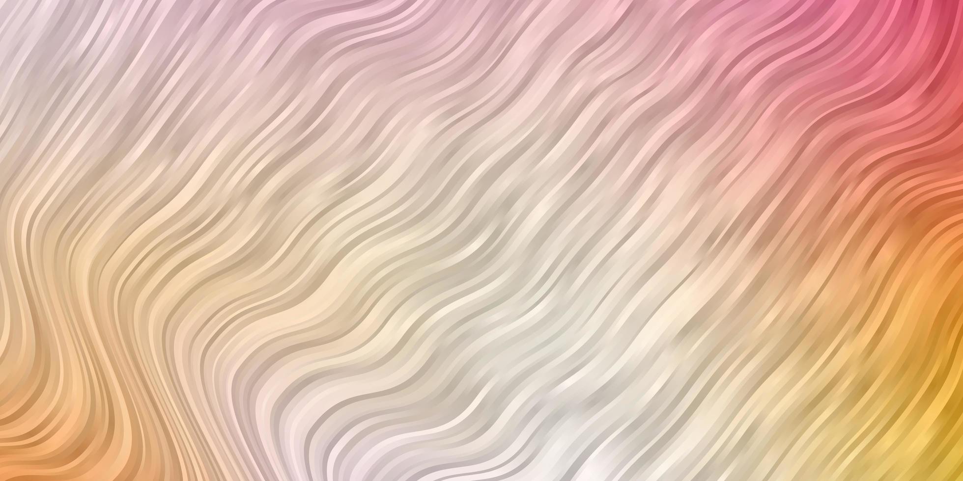 sfondo vettoriale rosa chiaro, giallo con linee ironiche.