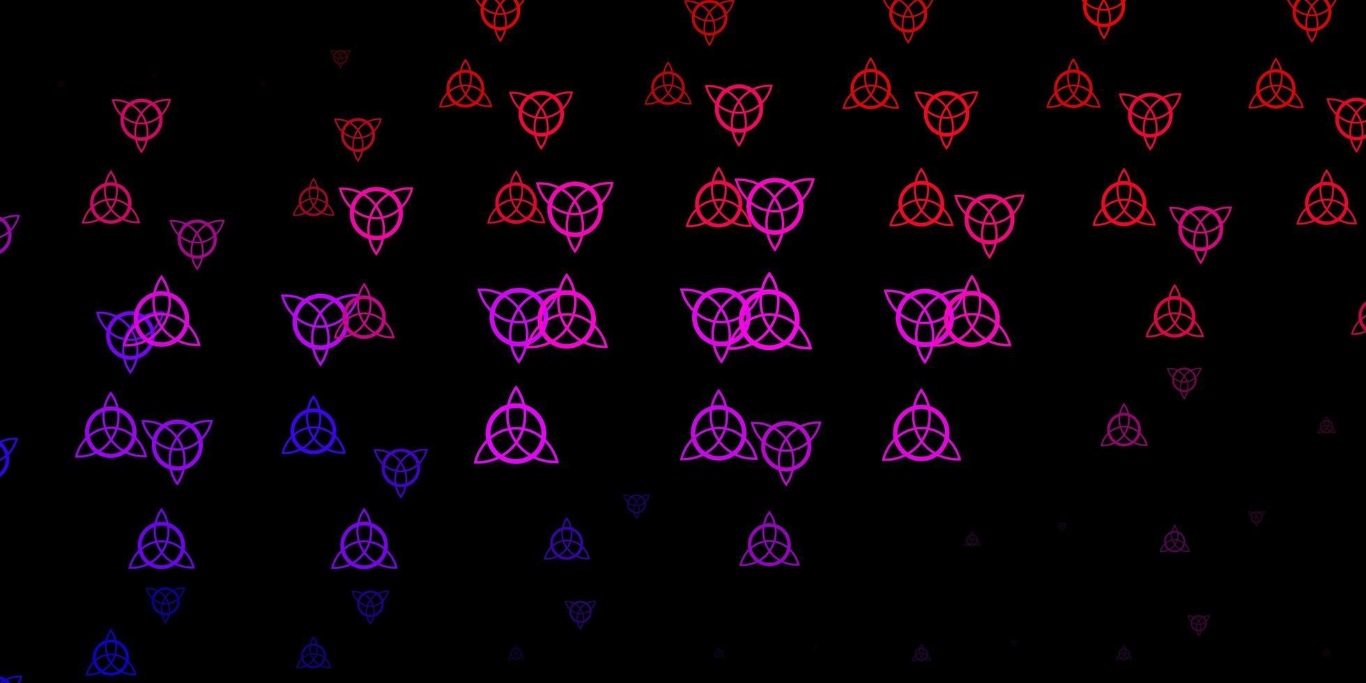 modello vettoriale rosa scuro, rosso con segni esoterici.