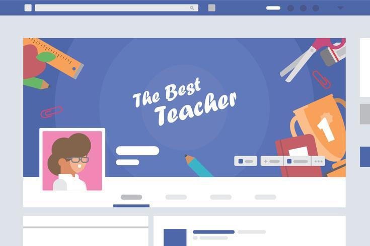 Illustrazione di copertina dell'insegnante vettore