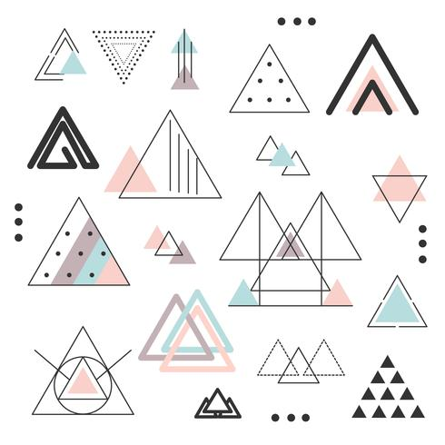 I triangoli astratti hanno fissato il vettore