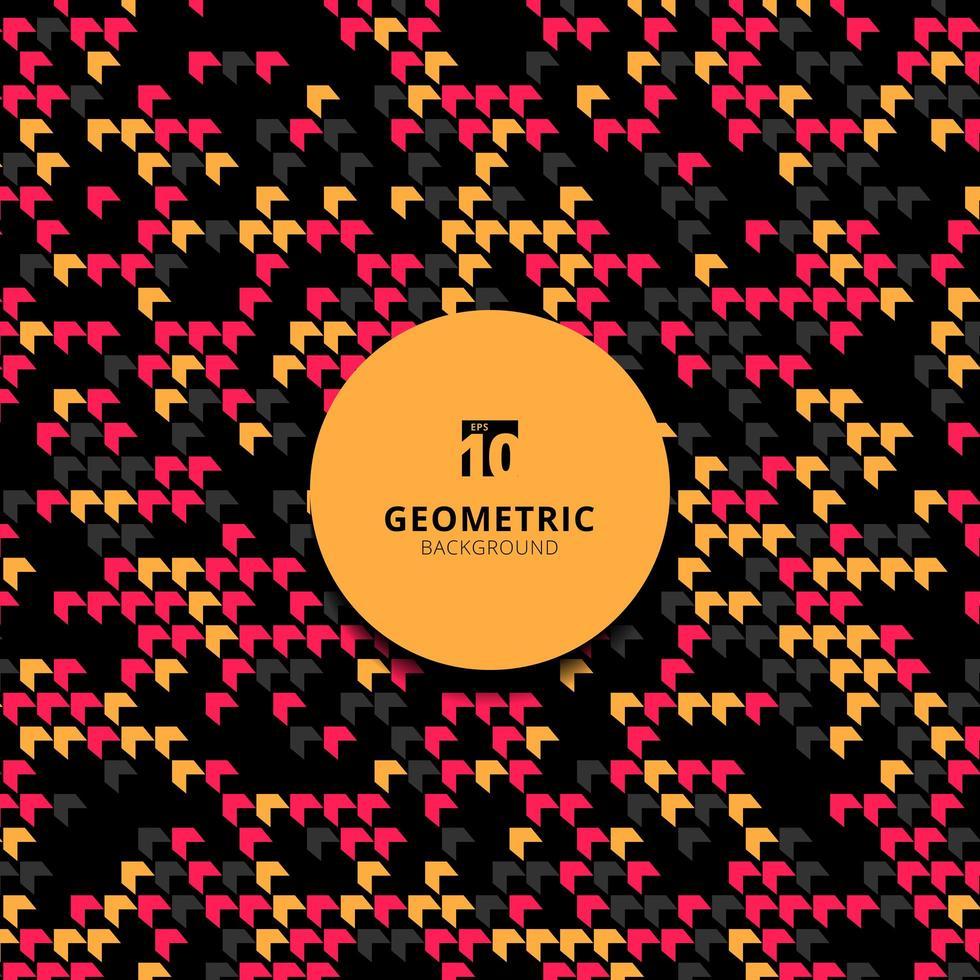 modello astratto geometrico chevron diagonale rosa, nero, giallo. vettore