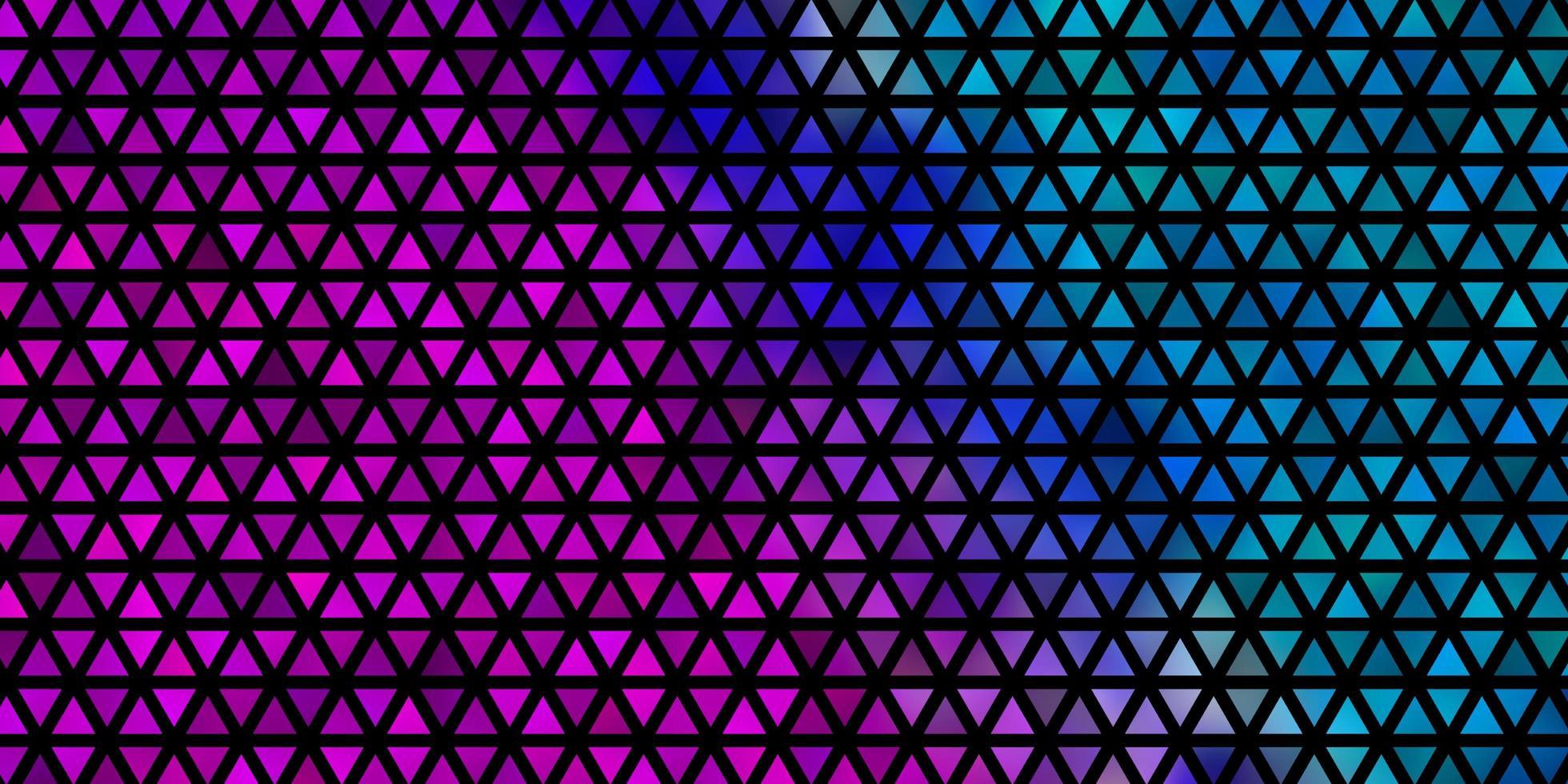 modello vettoriale rosa chiaro, blu con stile poligonale.