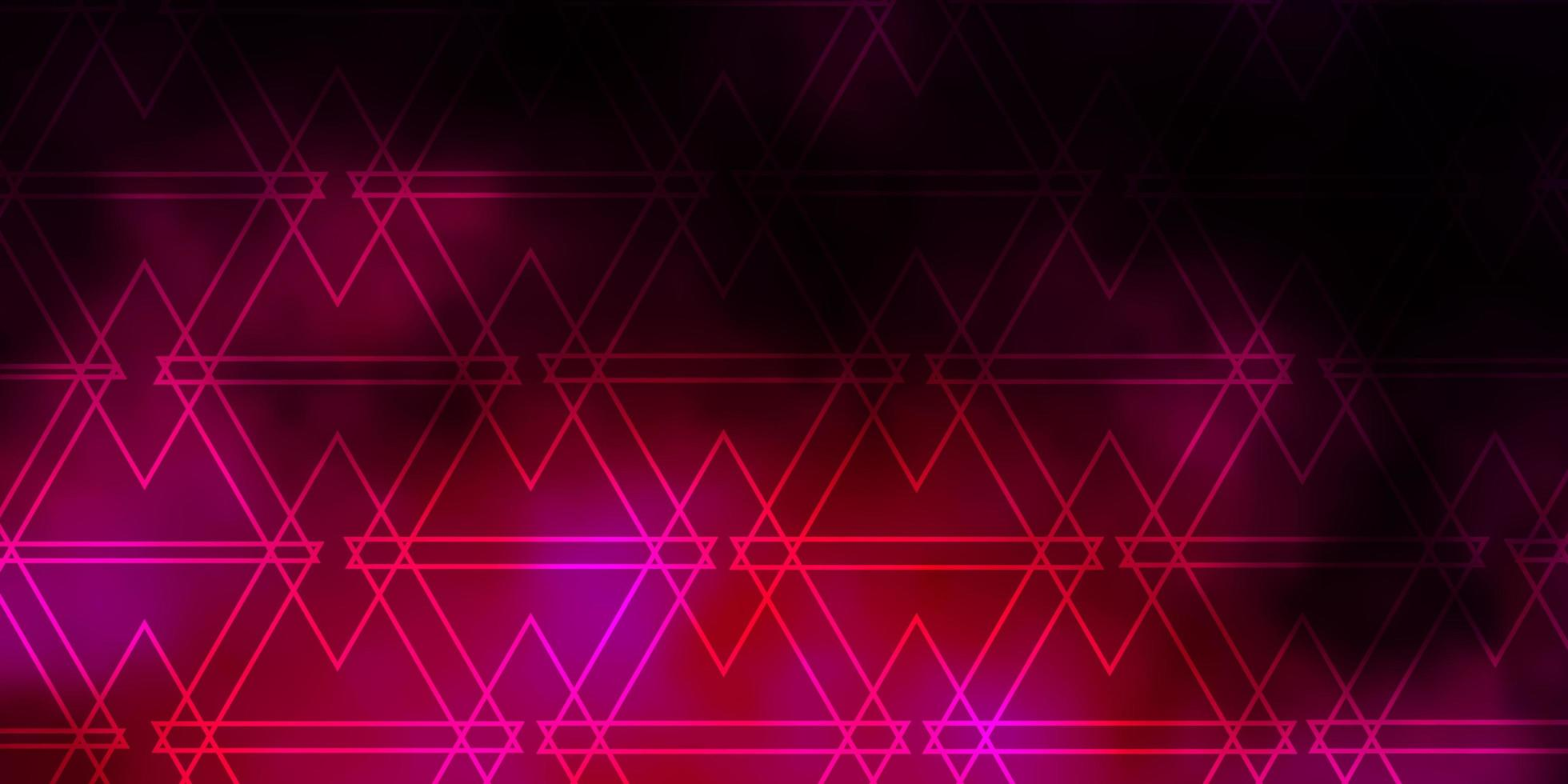 modello vettoriale rosa scuro con stile poligonale.