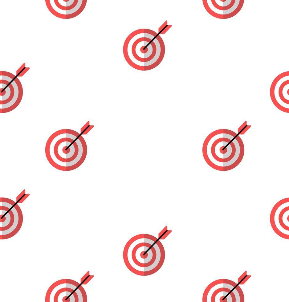 semplice bersaglio rosso seamless pattern di sfondo vettore