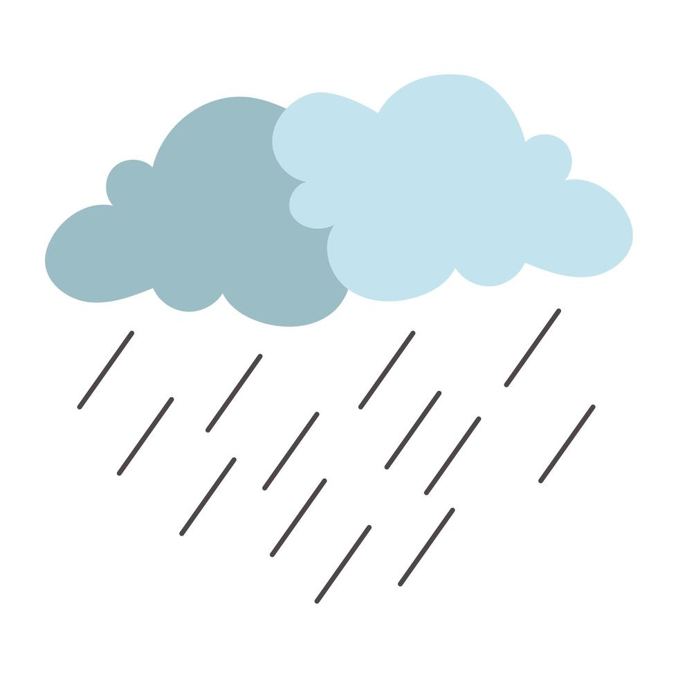 icona isolata del tempo tempesta piovosa nuvole vettore