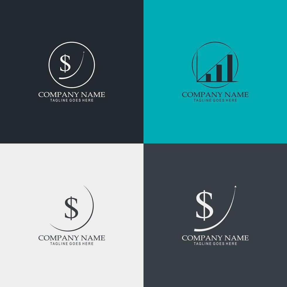 finanza logo set vettoriale