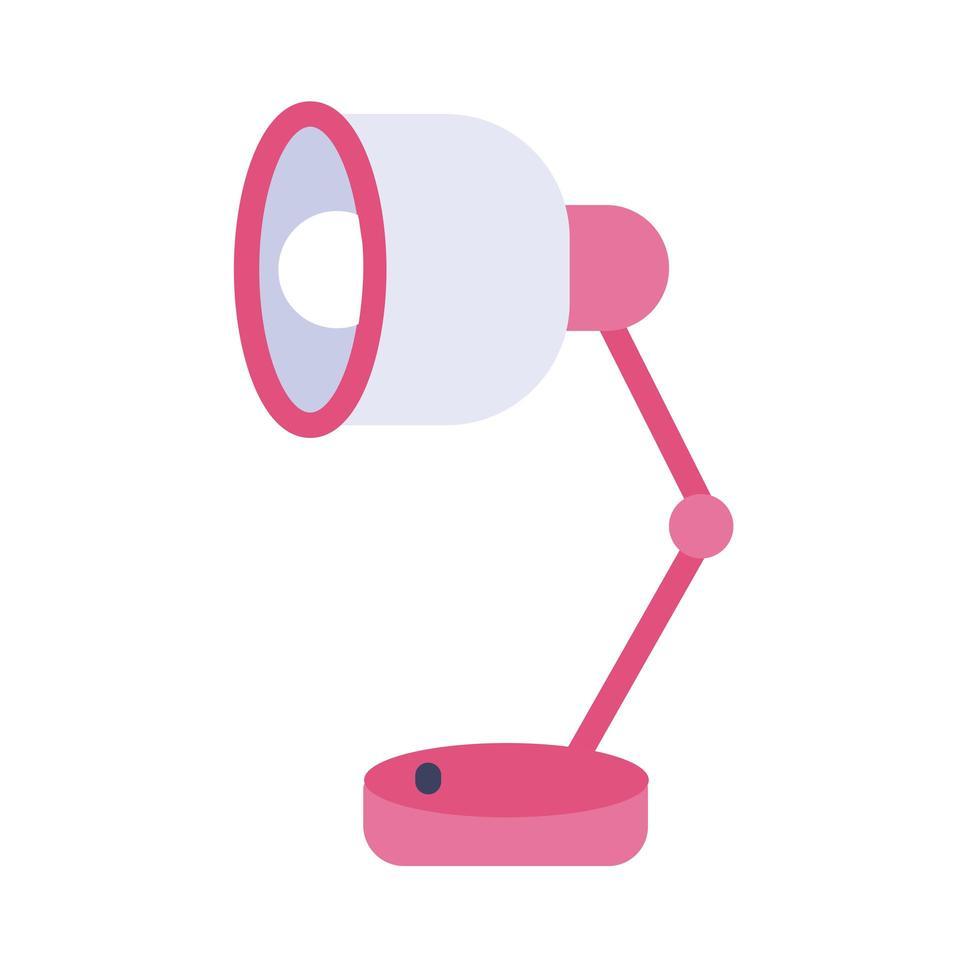 icona di stile piatto lampada da scrivania vettore
