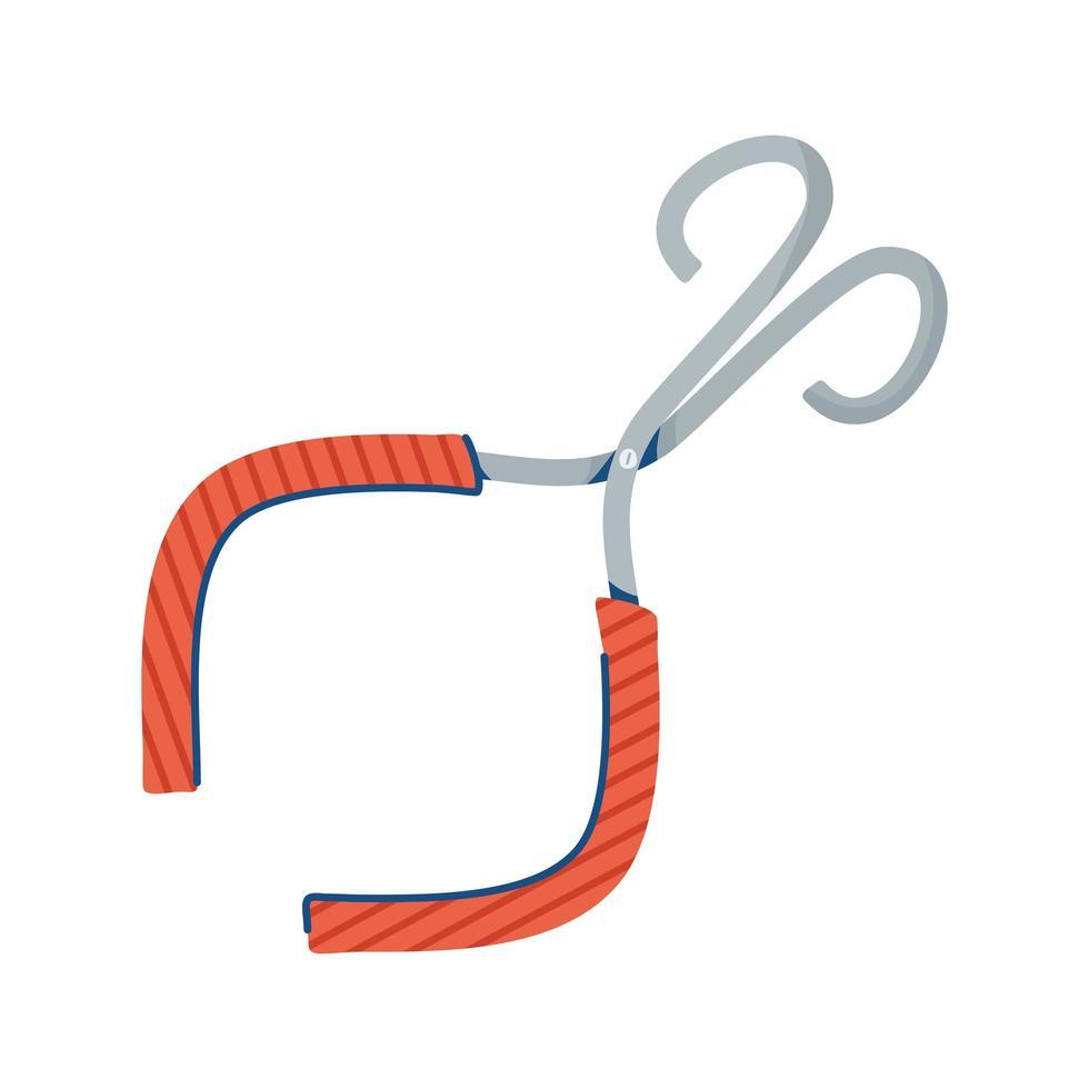 stile di tiraggio della mano di forbici mediche vettore