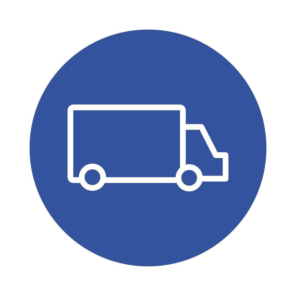 stile blocco servizio di consegna camion vettore