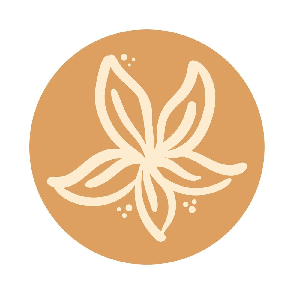 stile di tiraggio della mano di boho del giardino fiorito vettore
